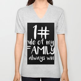 Family Quotes funny First Rule Mom is right Unisex V-Neck