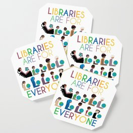 Rainbow Libraries Are For Everyone: Globes Coaster