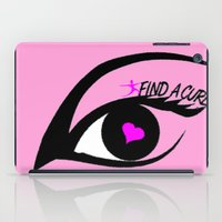 the cure iPad Cases featuring Find a Cure by Geni