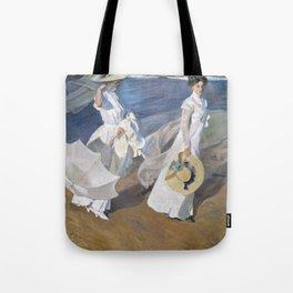 "Paseo a orillas del mar ""Promenade au bord de la mer"", Joaquín Sorolla, 1909 Tote Bag"