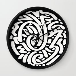 Calligraphy Coin Wall Clock
