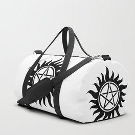 Anti Possession Sigil Black Duffle Bag