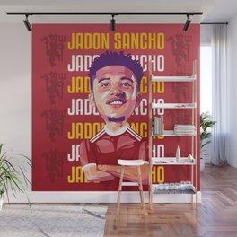 Jadon Sancho Vector Illustration Wall Mural