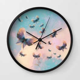 Happiness is a butterfly Wall Clock