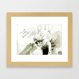 +I want to see you try+ Framed Art Print