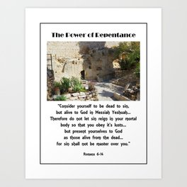 Power of Repentance Art Print