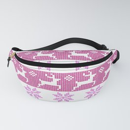 Watercolor Fair Isle in Purple Fanny Pack