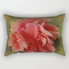 Pink Geranium at Barthel's Farm Market Rectangular Pillow