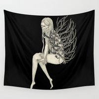 antler Wall Tapestries featuring ANTLER by auntikatar