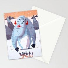 :::Happy Yetis::: Stationery Cards
