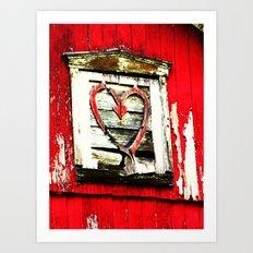 Barn Heart Art Print