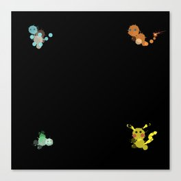Bubbly Monsters Canvas Print