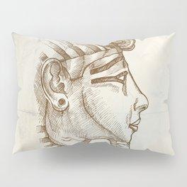 gold tutankhamon mask hand drawn Pillow Sham