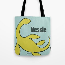 Nessie - The Loch Ness Monster (green) Tote Bag