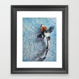Slipping Koi Framed Art Print