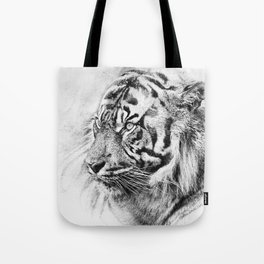 The mysterious eye of the tiger. WB. Square Tote Bag