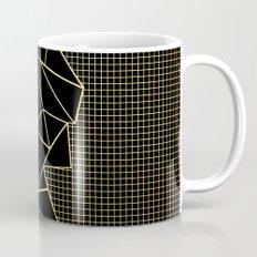Ab Outline Grid Black and Gold Mug