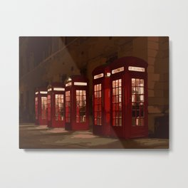 Iconic Red Phone Booths Metal Print
