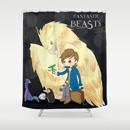 Fantastic beasts and where to find them. Shower Curtain