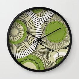 Kiwi flowers Wall Clock