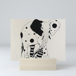 Polka-dotted elephant Mini Art Print