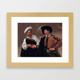 Good Luck by Caravaggio, 1594-1595 Framed Art Print