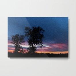 Grainy Sunset Metal Print
