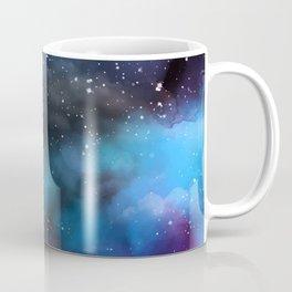 Navy Blue & Purple Glitter Cosmo Watercolor Galaxy Painting Coffee Mug