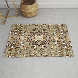 sophisticated jewelry flower silver champagne gold rhinestone Rug