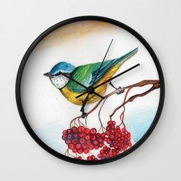 Great Tit & Ribes Wall Clock