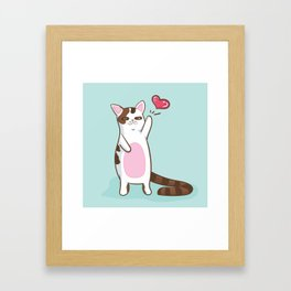 Fatty Catty saying HI Framed Art Print