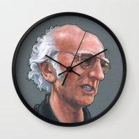 larry Wall Clocks featuring Larry David by Micah Krock