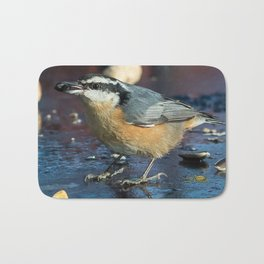 December Nuthatch Bath Mat