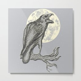 Night Caw Metal Print