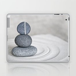 Zen cairn pebble stone balance grey Laptop & iPad Skin