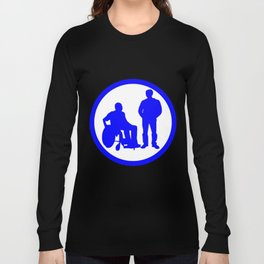 Disabled friend parking sign Long Sleeve T-shirt
