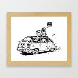 Adventures of Crashy D. Framed Art Print