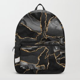 Black and Gold Agate Backpack