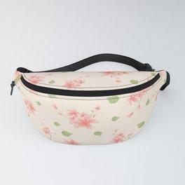pink flowers pattern spring nature Fanny Pack