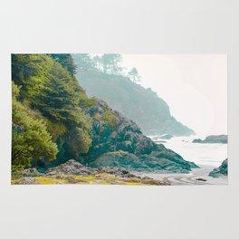 Misty Northwest Coastline Pacific Ocean Beach Nautical Decor PNW Art Beards Hollow Rug