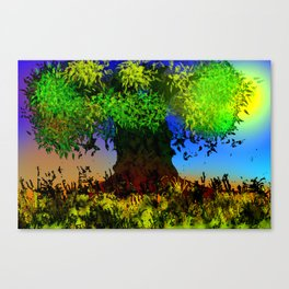 Tree and Leaves Canvas Print