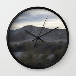 Death Valley Plants Yellow And Brown Tones At Dusk Spring Bloom 2016 Wall Clock