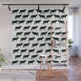 Inky Fox Pattern Wall Mural