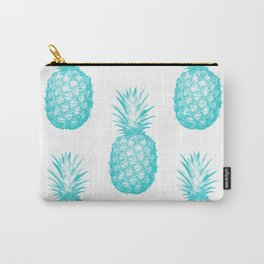 Teal Pineapple Carry-All Pouch