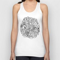 doodle Tank Tops featuring Doodle  by Vibe-Art
