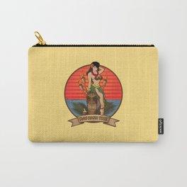 Beautiful Hula Girl Pau Hana Time with Tiki Carry-All Pouch