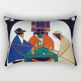 Card Players - Theo van Doesburg Rectangular Pillow