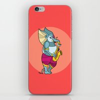 saxophone iPhone & iPod Skins featuring Ganesha Saxophone by Karthik