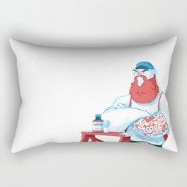 Protect the Beard Rectangular Pillow