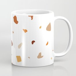 Seamless terrazzo earth tone pattern - small Coffee Mug